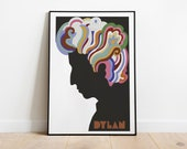 Vintage 1960's Bob Dylan | Retro Posters | Vintage Prints | Printable Wall Art | Vintage Advertising | Vintage Art Prints | Wall Decor