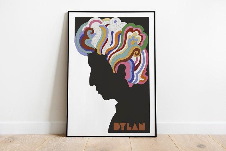 Vintage 1960's Bob Dylan  Retro Posters  Vintage Prints image 1