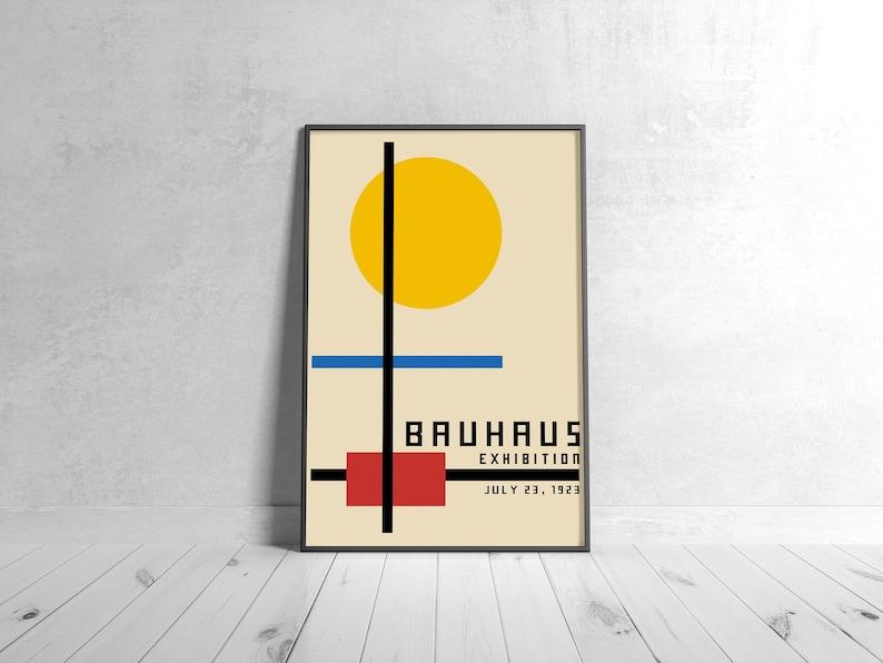 BAUHAUS 1923 Poster  Printable Wall Art Classic Advertising image 1