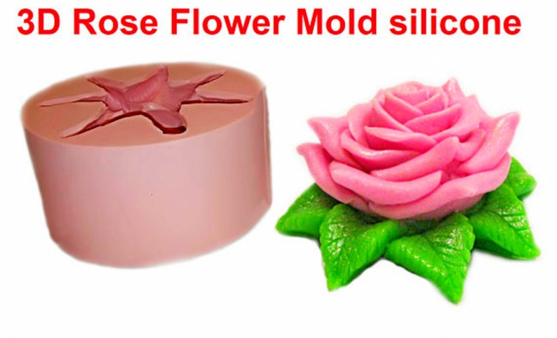 Silicone Mold Rose molds for flowers molds for soap Custom Soap Mold silicone soap Mold Making Candle Molds soap making supplies flower mold