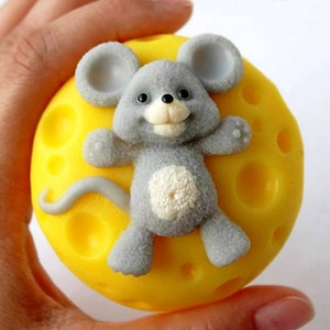 Mouse Silicone mold for soap mold handmade 3d mold resin soap making supplies silicone candle mold for soap Custom Soap Mold silicone soap