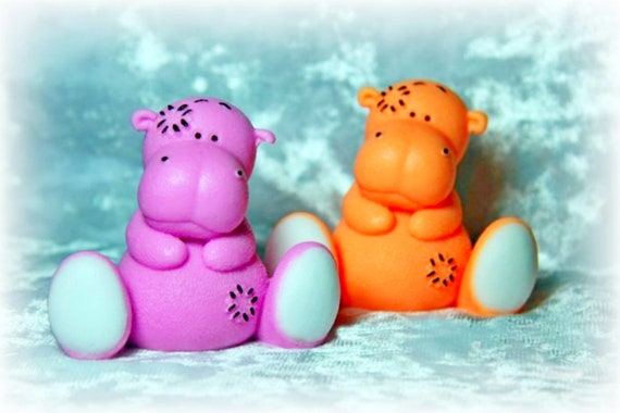 """/""""Hippo/"""" silicone mold for soap and candles making mould molds"""