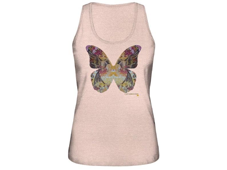 Cross Painting Ladies Organic Tank Top Butterfly Transfer Print