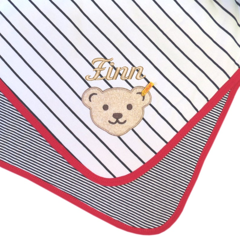 Baby Blanket Little Pirate Marine with wish name