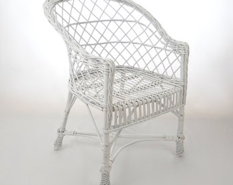 Peachy Wicker Chair Etsy Ncnpc Chair Design For Home Ncnpcorg