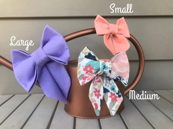 Girly Bow- Any Fabric- Fits Any Dog Collar