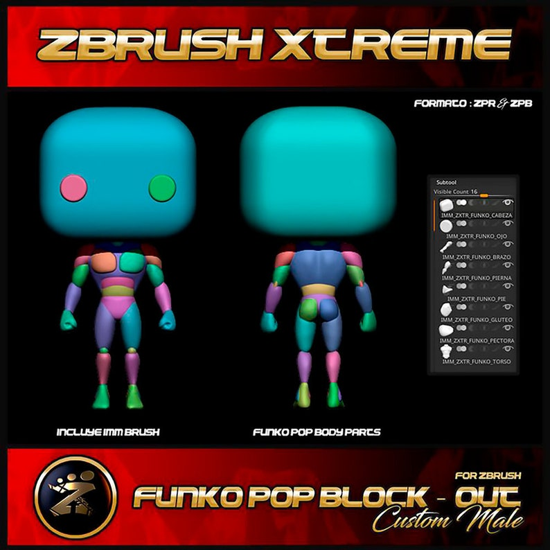 Custom Funko Pop | Block - Out | Stylized Male Anatomy