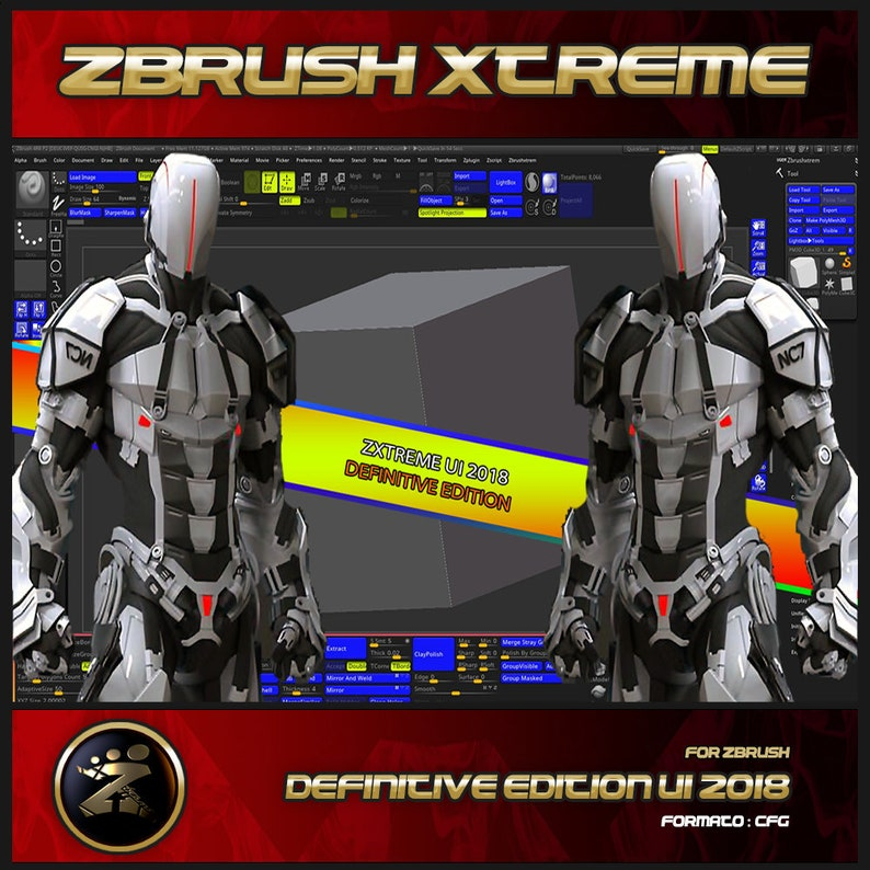 Custom Interface For Zbrush Definitive Edition 2018