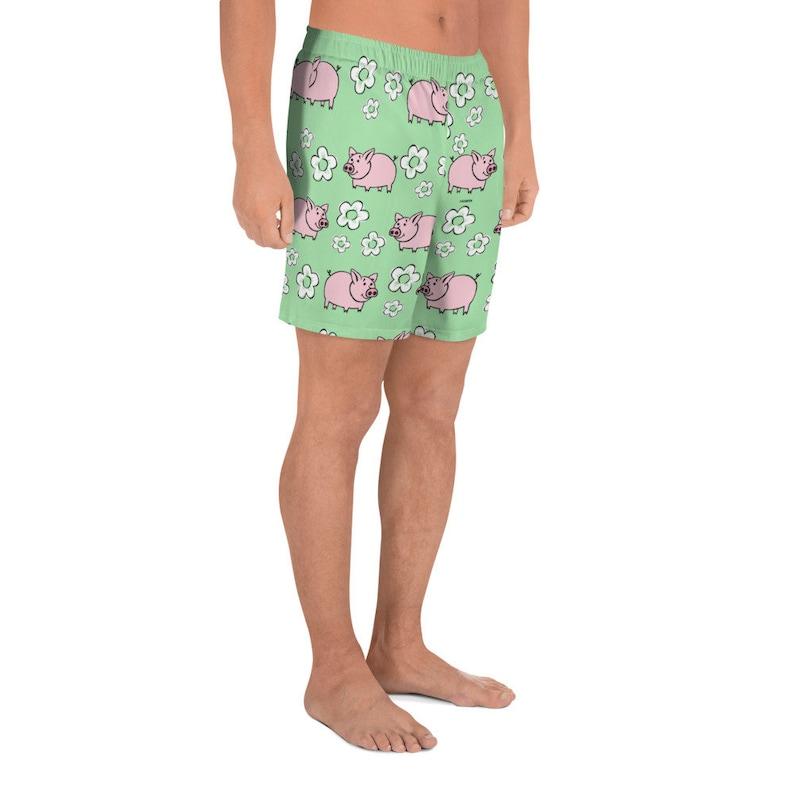 Fun Pig swimwear Summer Beach Shorts Humor Animal Farmers Shorts Globpen GP102BMS Piggy Men/'s Athletic Long Shorts Holiday clothes