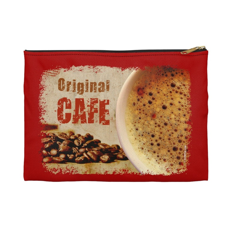 Globpen GP0640aAP Coffee Accessory Pouch Zippered Bag 2 sizes Ladies makeup trend pouch Nostalgia Cafe print traveler small toilet bag