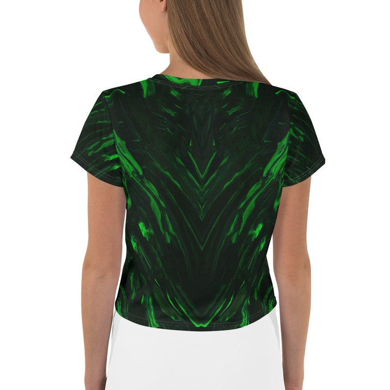 Graphic Globpen Crop Tees All Over Print Elegant Festive Shirt Women Crop Tees Festival T-Shirts Rave Tees All-over Design Abstract