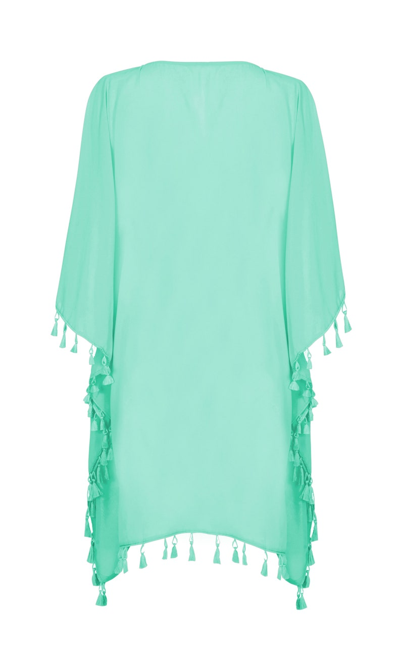 MI Impressions Womens Short Caftan One Size Blouse Tunic Top Cover-Up
