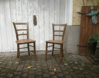 Alte Holzstühle französische Bistro Stühle