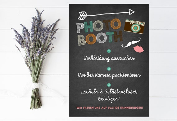 Wedding Note Poster Photobooth Notice Poster Photobooth Etsy