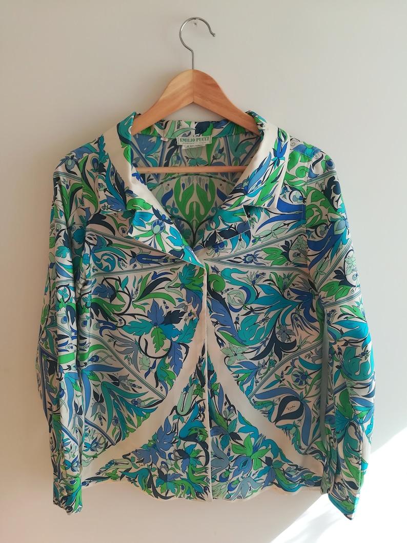 size 10 60/'s Emilio Pucci printed shirt
