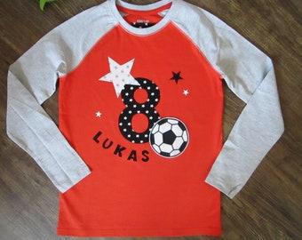 Fussball T Shirt Stern Geburtstagsshirt Zahl 456789 Etsy