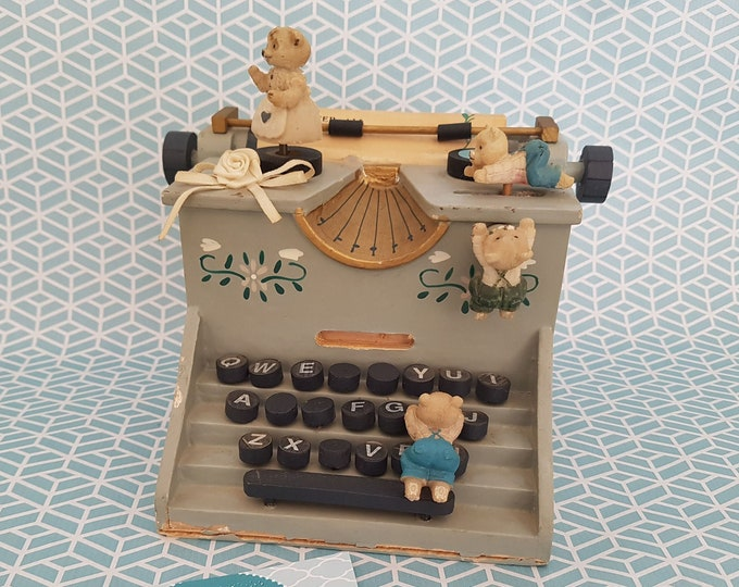 Music Box, Vintage Music Box, Vintage Music Box, Bear Old, Wooden Toy Old, Music Old, Collectible Toy,Nostalgia Decoration, Pelman Music Box