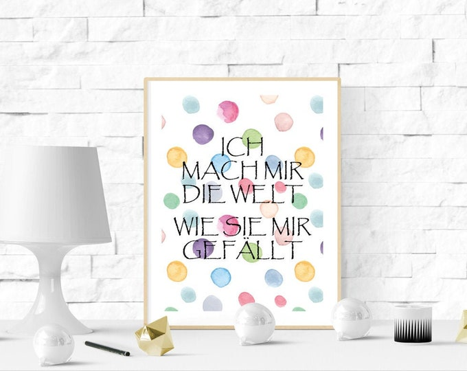 Picture,Poster,A4 Print,Wall decoration at home, poster with saying, home decoration, gift saying, wall decoration, Kramurilove, gift for her,Happy, art