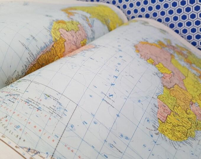 Vintage Map, Old Map, Craft Paper, World Map Old, Vintage Paper, Atlas Collector's Piece, Map Paper, Paper 50s, Kramuri