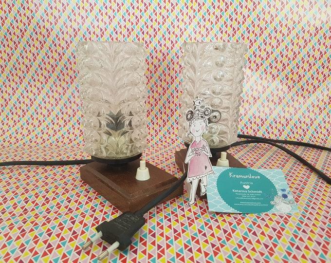 Bedside lamp, vintage lamp, vintage lamp set, 50s lamp, 60s lamp, 50s decoration, home décor old, lighting vintage, lamp old