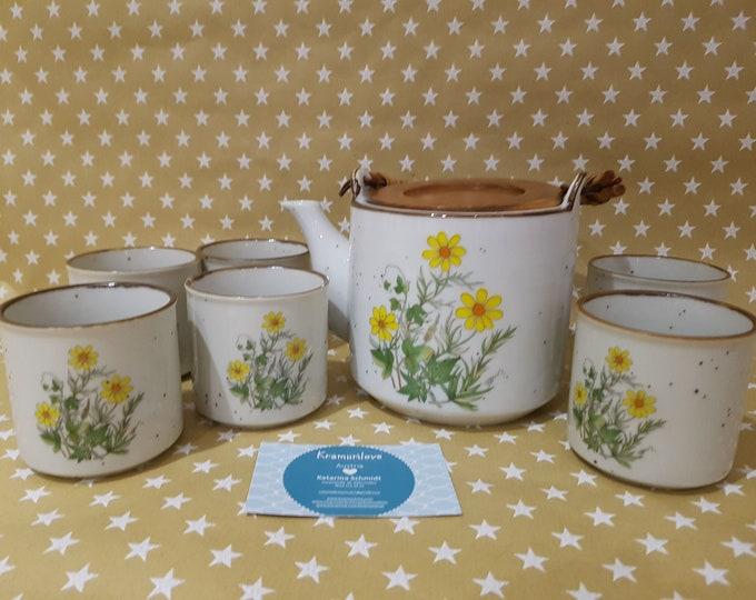Vintage Teapot, Margerithe, Shabby Decoration, Old Pot, Rarity, Teapot Old, Tea Service, Tea set, Pot Old, Vintage Decoration