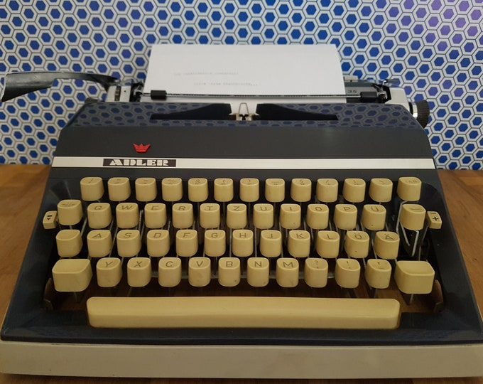 Travel Typewriter, Typewriter Blue, Typewriter Eagle Gabriele 35, Gift Boyfriend, Vintage Office Decoration, Vintage Typewriter