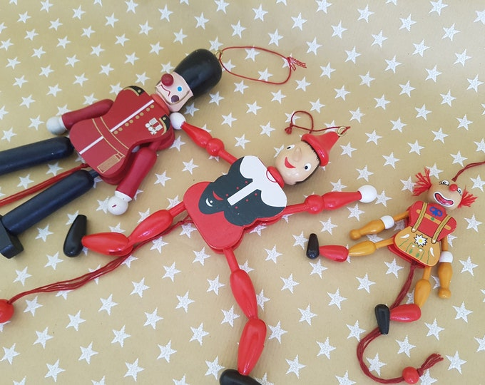 Vintage Toy, Kids Gift, Wooden Toy, Gift, Vintage Toy, Vintage Clown, Pinochio, Vintage Hampelmann, Clown Old, Guard