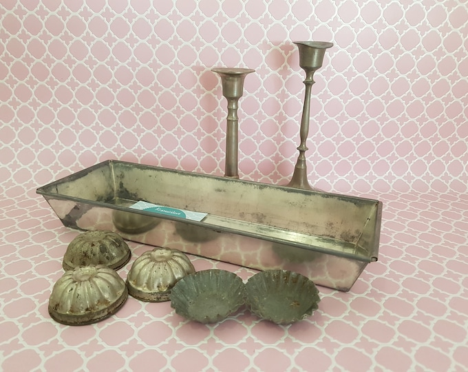 old baking dish, kitchen set, shabby decoration, kitchen decoration Shabby, vintage decoration,shabby decoration, shabby candlesticks, country house decoration, guglhupfform