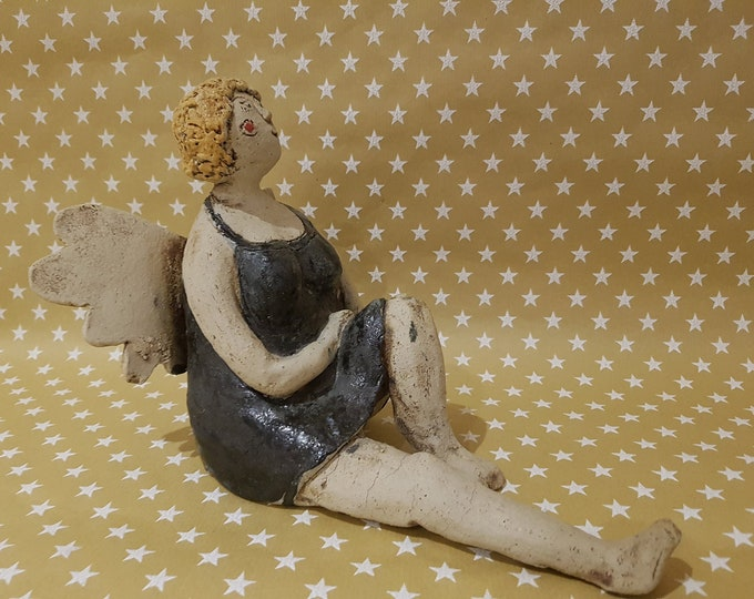 Sculpture Ceramic, Art Badenixe, Pond Sculpture, Gift Ceramic, Stone Figure Single Piece, Ceramic Girl Princess girl art figure
