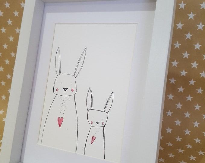 Easter Bunny, Download Bunny, Wall Decor Nursery, Animal Print with Animal, Animal Print, Bunny and Bear, Gift Kids, Home Decor Kids, Easter Card