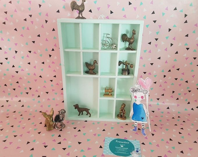 Set case made of wood, set box vintage, set box mint, set box small, collectible figurine brass, wooden box, printer drawer wood, Kramurilove