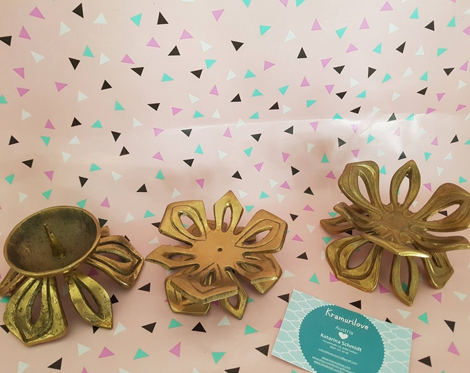 Candle holder brass, Shabby candlestick,Shabby decoration,wedding candlestick, vintage decoration,candlestick gold,decoration wedding, Kramurilove