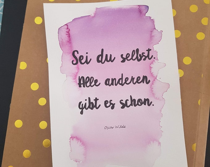 Watercolor saying,wall decoration purple, wall decoration lettering,gift girlfriend,gift sister,wall decoration pink,gift funny,saying picture, Kramurilove