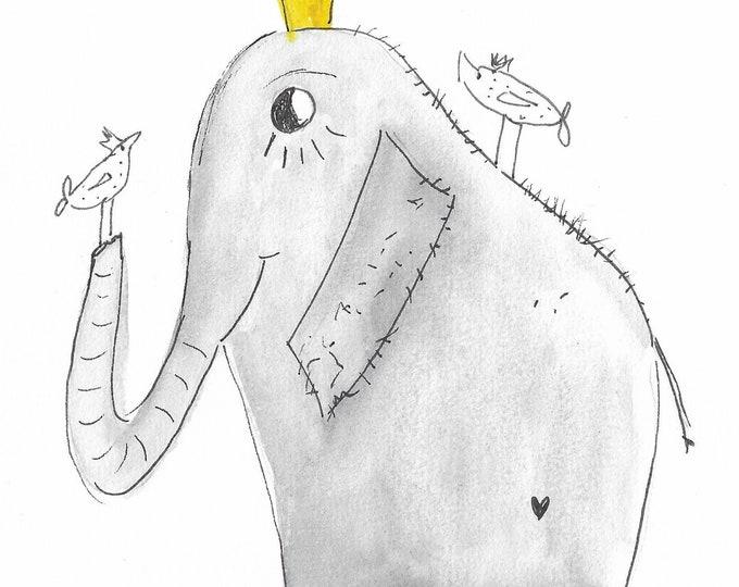 Elephant print, picture elephant, wall decoration animals, wall decoration elephant, download, deco nursery, kids gift, gift friends, elephant funny