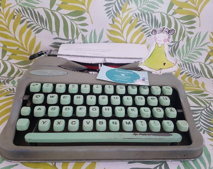 Typewriter Hermes Baby, Gift Friends, Typewriter made in Germany, Kramurilove, Typewriter mint, Vintage Decoration, Hermes Baby