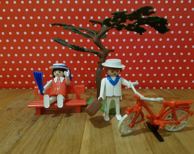 Old Playmobil, Bicycle, Loved-up Couple, 70s, rarity, Vintage Toy, Playmobil 70s, Vintage, Collector Toy, Nostalgia, Dollhouse,