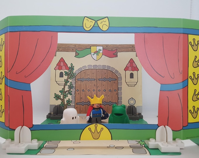 Old Toy, Lego Theater 3615, Old, Vintage, King, Frog, Castle, Spirit, Duplo, Vintage, Collector, 80s, 70s, Doll, Dollhouse,