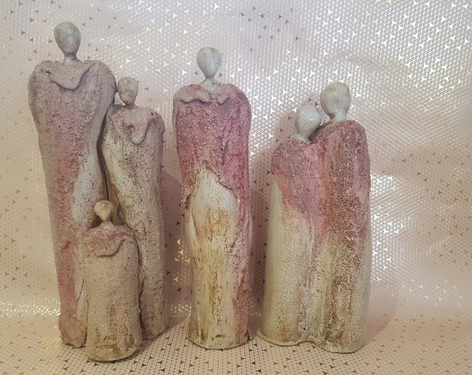 Sculpture Family, Sculpture Love, Wedding Gift, Gift Ceramic, Stone Figure, Sculpture Couple, Gift Family, Sculpture Family, Ceramics