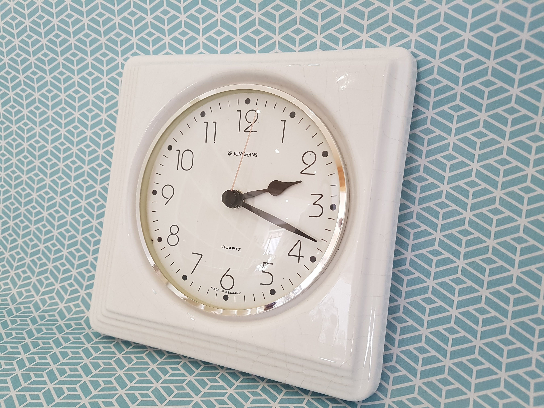 Incredible Junghans Wall Clock Shabby Wall Clock White Wall Clock Home Interior And Landscaping Synyenasavecom
