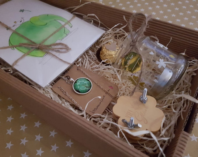 Birthday Gift, Birthday Gift Set, Easter Gift, Gifts Box, Gift Set, Gift for Friends, Gift Happiness, Lucky Decoration, Clover