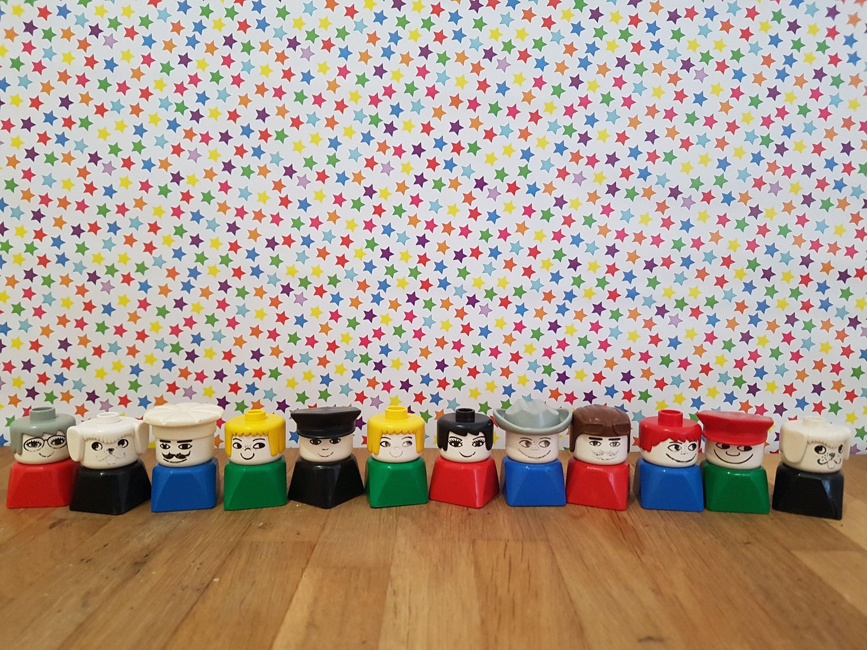Duplo Lego Figurines Old Toys 70s Rarity Vintage Playmobil