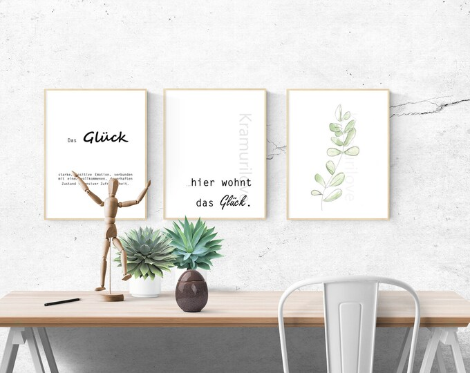 Saying picture,download, A4 print,wall decoration lucky, poster with saying, home decoration, gift saying, wall decoration, Kramurilove, gift for her,Happy