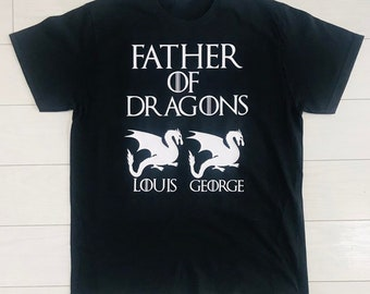 0970f8f7 Mens Father's Day GOT Game of Thrones Father of Dragons Personalised Gift  Present T-Shirt Top UK Seller