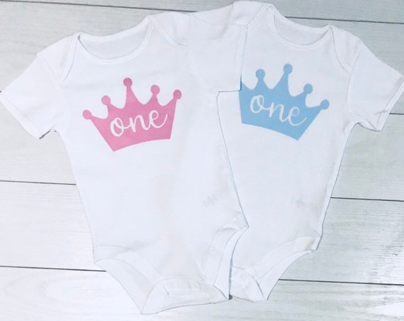 Baby Boys Girls 1st First Birthday Outfit Twins Top T-Shirt Vest Cake Smash 9-12