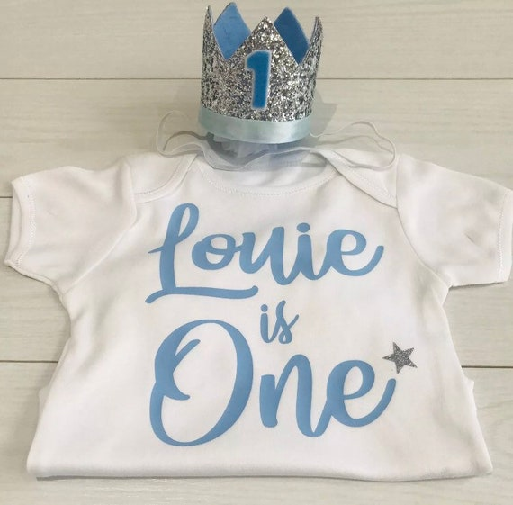 Luxury Boys 1st First Birthday Vest Top T-Shirt Outfit Cake Smash Photo Prop Set