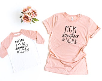 9b1c4cd263 Mommy and Me Shirts, Mothers Day Gift, Mom Daughter Squad, First Mother's  Day