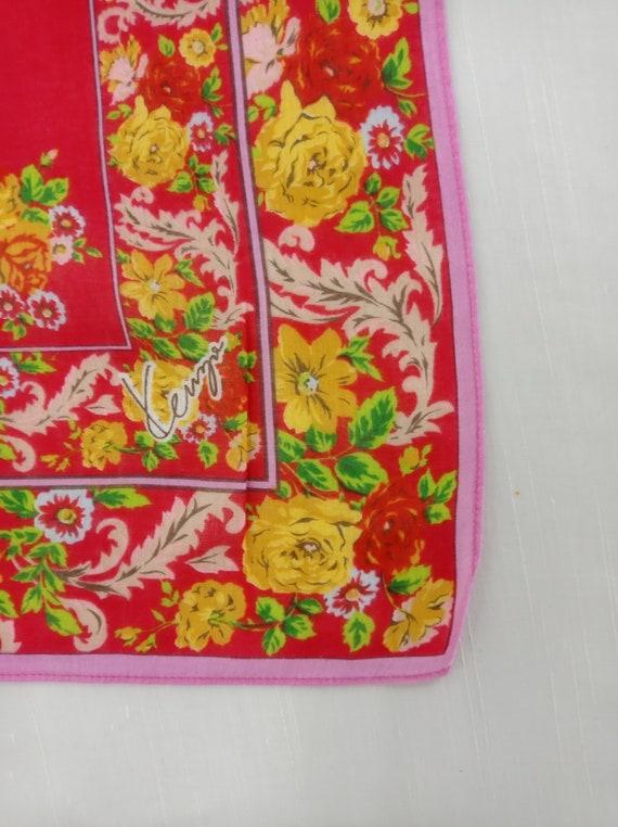 Vintage Kenzo Handkerchief Neckerchief Bandana He… - image 3