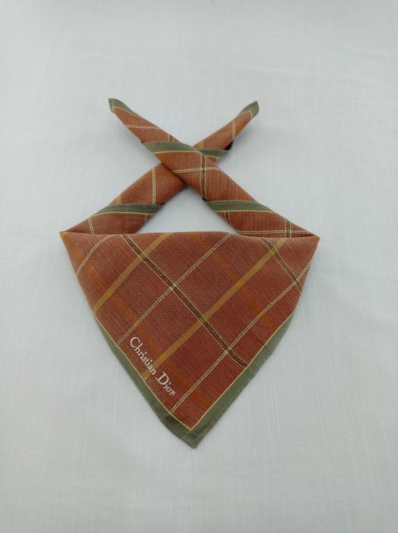 Christian Dior Handkerchief Neckerchief Bandana H… - image 1