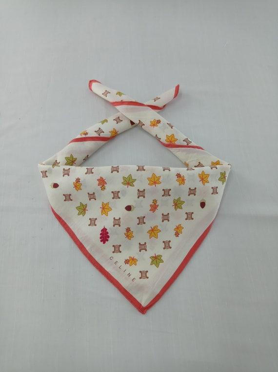 Vintage Celine Neckerchief/Handkerchief/Bandana