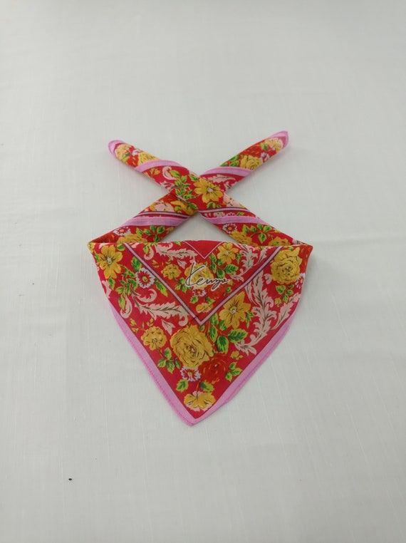 Vintage Kenzo Handkerchief Neckerchief Bandana He… - image 1